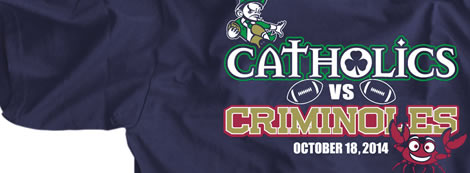 Catholics versus Criminoles 2014 Rivalry Shirt
